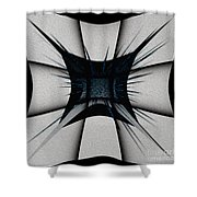 Silver Craft Shower Curtain by Mihaela Stancu