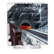 Silver Creek Tunnel Shower Curtain