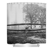 Silver Dart - Aeroplane At Hammondsport 1908 Shower Curtain