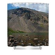 Silver Dollar Lake Colorado Shower Curtain
