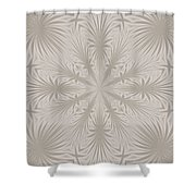 Silver Drapery Shower Curtain