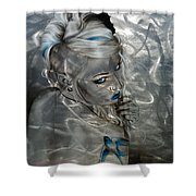 Silver Flight Shower Curtain