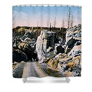 Silver Gate Road Yellowstone Np Shower Curtain
