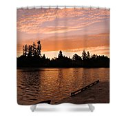 Silver Lake Sunset Shower Curtain