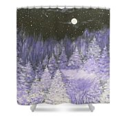 Silver Night  Shower Curtain