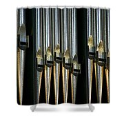 Silver Pipes Shower Curtain