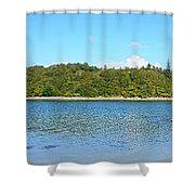 Silver Sands Of Morar Panorama Shower Curtain