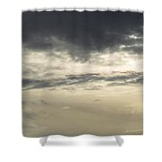 Silver Sky Shower Curtain