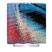 Silver Spirit Abstract Shower Curtain
