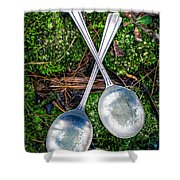 Silver Spoons  Shower Curtain