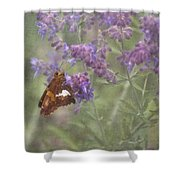 Silver Spotted Skipper Shower Curtain