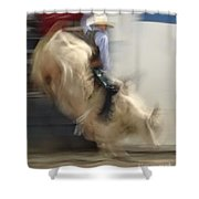 Silver State Stampede 2014 Bull Rider Shower Curtain