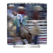 Silver State Stampede 2014 Happy Bronc Rider Shower Curtain