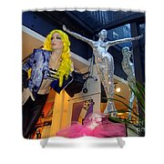 Silver Statue Shower Curtain