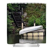 Silver Summer's End Shower Curtain