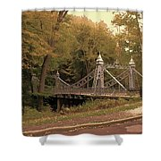 Silver Suspension Bridge Shower Curtain