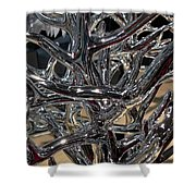 Silver Trees Shower Curtain