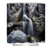 Silver Waterfall Shower Curtain