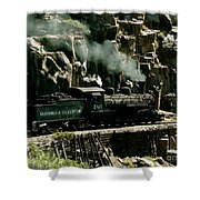 Silverton Steam Locomotive  Shower Curtain