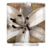 Silvery Asiatic Lily Shower Curtain