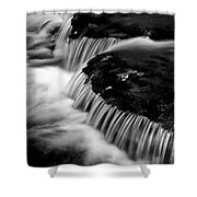 Silvery Falls Shower Curtain