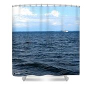 Silvias Ocean View Shower Curtain