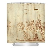 Simeon And Jesus In The Temple Shower Curtain