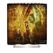 Simon Helps Jesus Via Dolorosa 5 Shower Curtain by Lianne Schneider