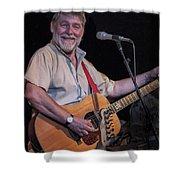Simon Nicol Of Britian's Fairport Convention Shower Curtain