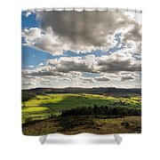 Simonside Hills From Rothbury Terraces Shower Curtain