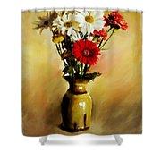 Simple Bouquet Shower Curtain