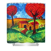 Simple Dreams Acrylic Painting Shower Curtain