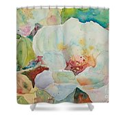 Simple Floral Shower Curtain