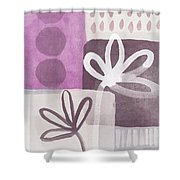 Simple Flowers- Contemporary Painting Shower Curtain by Linda Woods