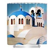 Simple Graphic Greek Church Shower Curtain