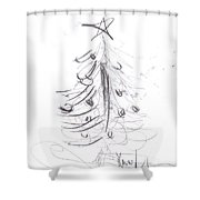 Simple Love Shower Curtain by Laurie Lundquist