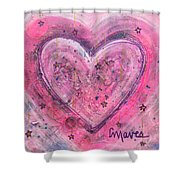 Simple Love Simple Heart Shower Curtain