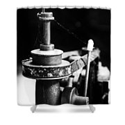 Simple Machinery Shower Curtain by Karol Livote