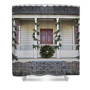 Simple Magnolia And Pine Shower Curtain