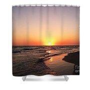 Simple Sunset Shower Curtain