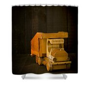 Simpler Times - Old Wooden Toy Truck Shower Curtain