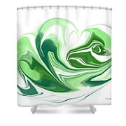 Simplicity In Green Shower Curtain