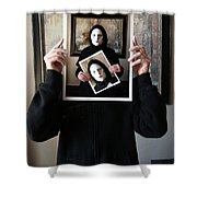 Simply A Matter Of Timing Shower Curtain