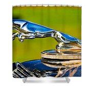Simply Jaguar-front Emblem Shower Curtain