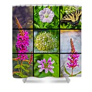 Simply Summer Wildflowers Shower Curtain