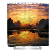 Simply Sunset Shower Curtain