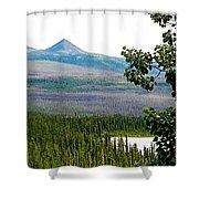 Simpson Peak At Swan Lake-yt Shower Curtain