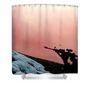 Simulated Ground Attack, Osan Air Base Shower Curtain