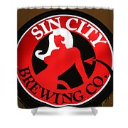 Sin City Brewing  Shower Curtain