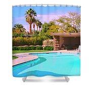 Sinatra Pool Cabana Palm Springs Shower Curtain